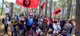 مسير في ذكرى تشي غيفارا في غابة بكاسين في جزين